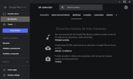 Genial reproductor de Escritorio para Google Play Music