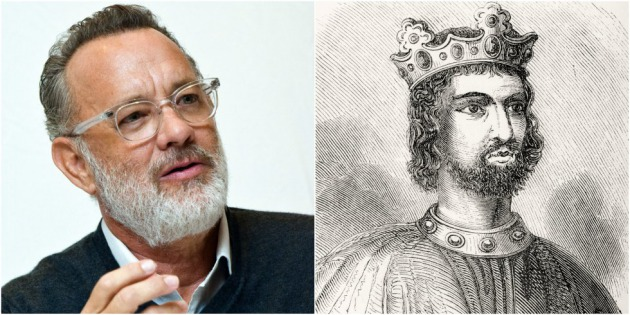 El actor Tom Hanks desciende del rey Juan de Inglaterra.